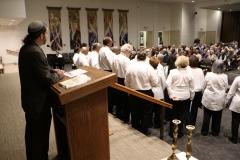 Rabbi Michael Werbow with Gulf Coast Community Choir