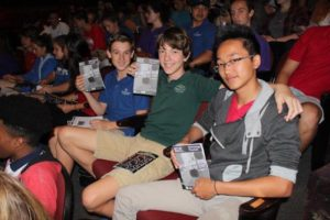 Sarasota students at florida studio theater for a performance of brownsville song (bside for a tray)
